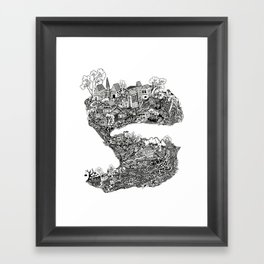 THE TOWN Framed Art Print
