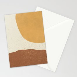 Minimalist Painting - Gold Brown Stationery Cards