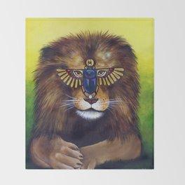 Sun Lion Throw Blanket