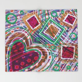 Movement from the Heart Space: Inner Power Painting Throw Blanket