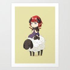 Knitting Adventure Art Print