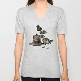Deconstructed bird Unisex V-Neck