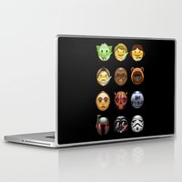 emoji Laptop & iPad Skins featuring Emoji Wars by Vincent Trinidad