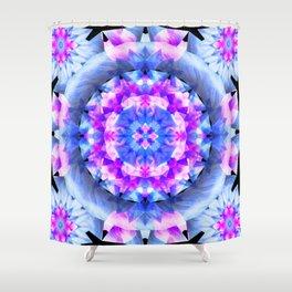 Fractured Light Mandala Shower Curtain