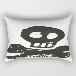 All Time Low Skull and Cross Bones Rectangular Pillow