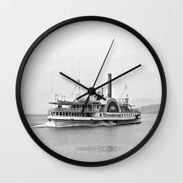Ticonderoga Side Wheeler Steamboat Wall Clock