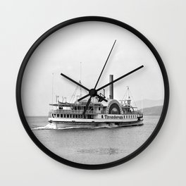 Ticonderoga Side Wheeler Steamboat Wall Clock
