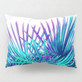 Cool modern teal purple gradient artistic palm tree tropical plants Pillow Sham