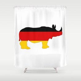 German Flag - Rhino Shower Curtain