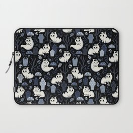Ghost Cats in the Cemetery Laptop Sleeve