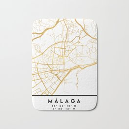 MALAGA SPAIN CITY STREET MAP ART Bath Mat