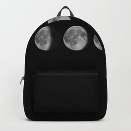 Phases of the Moon. Lunar cycle. Backpack