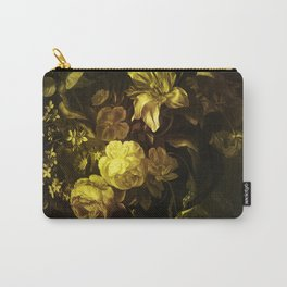 Flowers in a Vase - yellow Carry-All Pouch