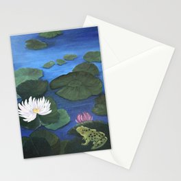 Hide and Seek with Frog and Dragonfly Stationery Cards