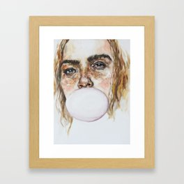 Freckles-constellation that not even sky can match Framed Art Print