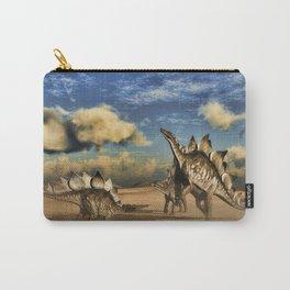 Stegosaurus dinosaur in the desert Carry-All Pouch