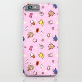 cardcaptor sakura pattern pink iPhone Case