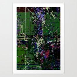 8bit fool Art Print