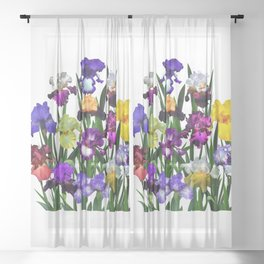 Iris garden Sheer Curtain