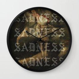 S A D N E S S Wall Clock