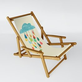 cloudy with a chance of rainbow Sling Chair