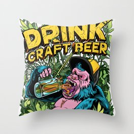 Drink Craft Beer Throw Pillow