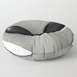 Alien Face With White Scales Floor Pillow