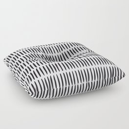 Classy Handpainted Stripes Pattern, Scandinavian Design Floor Pillow