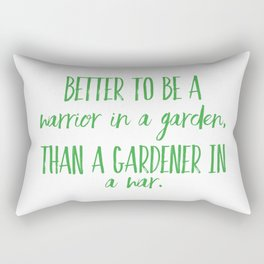 Warrior In A Garden Rectangular Pillow