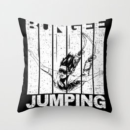Bungee Jumping With Jumper Throw Pillow