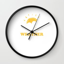 Climate Nature Earth Atmosphere Season Gift Weather Nerd Wall Clock