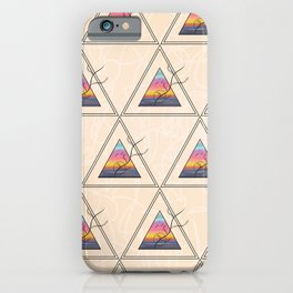 Triangle Sunset iPhone Case