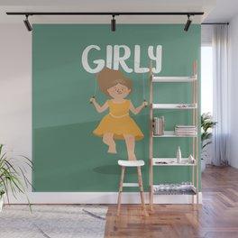 Girly - Jump Rope princess Wall Mural