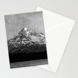Mt Hood Black and White Vintage Nature Photography II Stationery Cards