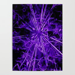 Ultra violet star lightning - by Brian Vegas Poster