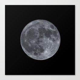 December Super Moon Canvas Print