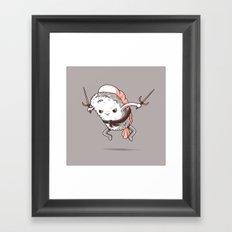 Samurai sushi - Shrimp Framed Art Print
