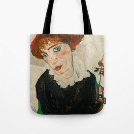 """Egon Schiele """"Portrait of Wally Neuzil"""" Tote Bag"""