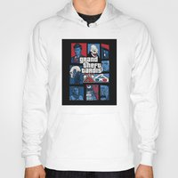 gta Hoodies featuring Doctor Who and GTA - Nerd Mix by MarcoMellark
