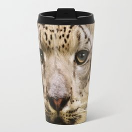 Hope For Tomorrow - Snow Leopard Art Travel Mug