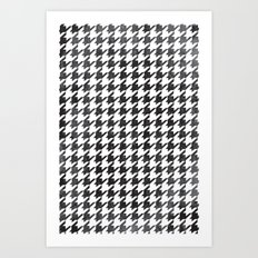Rugged Houndstooth  Art Print