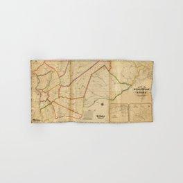 Map of Burlington County, New Jersey (1849) Hand & Bath Towel