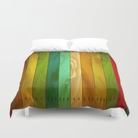 wooden Duvet Covers featuring Wooden  by Robin Curtiss