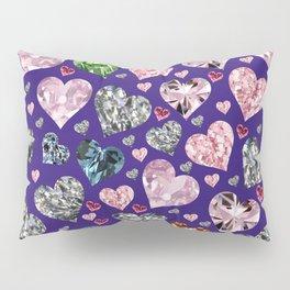 Heart Diamonds are Forever Love Violet Pillow Sham