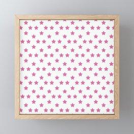 Johnny Joestar Pattern (White bg) Framed Mini Art Print