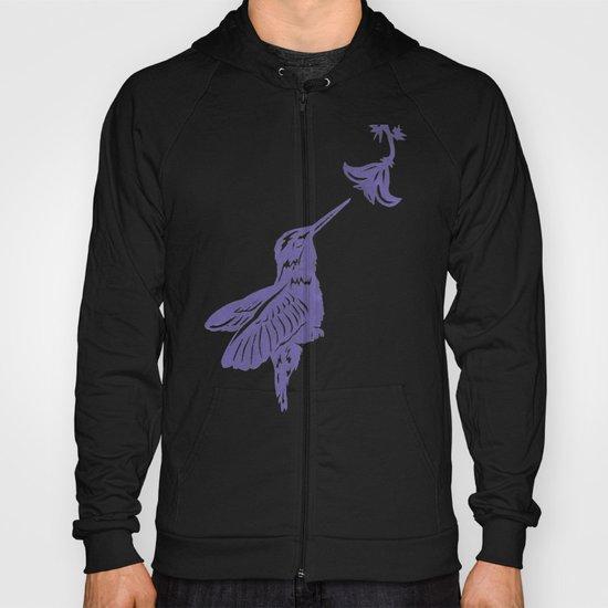 Lavender Hummingbird Papercut Hoody
