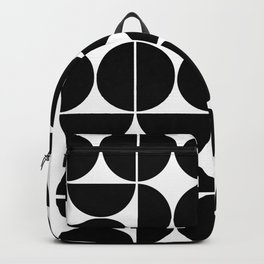 Mid Century Modern Geometric 04 Black Backpack
