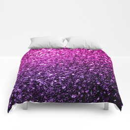 Purple Pink Ombre glitter sparkles Comforters