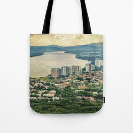Aerial View of Guayaquil from Window Plane Tote Bag
