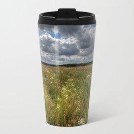 Wheat Field Flowers Travel Mug